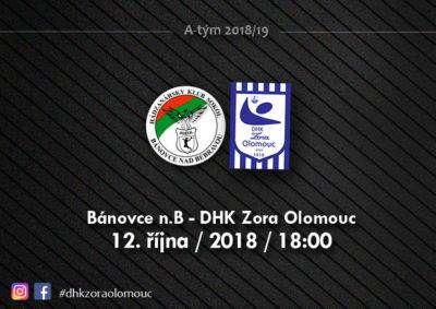 Utkání v Bánovcích se hraje v pátek 12. 10. 2018